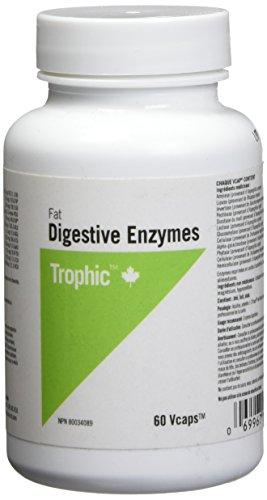 Trophic Enzima digestiva de grasa 60 cápsulas vegetales 60 g
