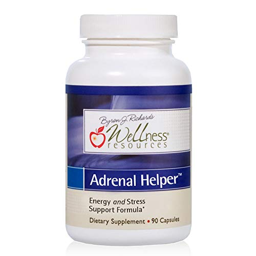 Adrenal Helper - Adaptogens for Adrenal Support, Stress, Mood - Adrenal Supplement with Rhodiola, OciBest Holy Basil, Cordyceps Mushroom, Eleuthero, and Gamma Oryzanol (90 Capsules) - Vegan