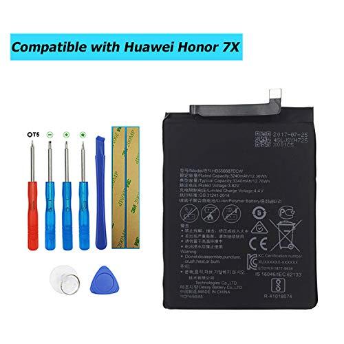 Upplus HB356687ECW - Batería de Repuesto Compatible con Huawei Honor 7X / Nova 2 Plus con Kit de Herramientas