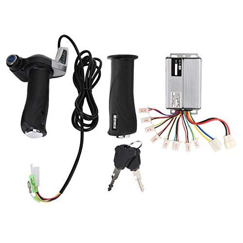 Controlador de Velocidad de Motor Cepillado, Controlador de Velocidad de Motor de Aluminio de 1-4 V con Acelerador, Duradero para Triciclo eléctrico EVO, Scooter para(36V 1000W)