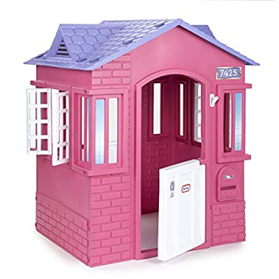 Little Tikes Cape Cottage Princess Playhouse with Working Doors, Windows, and Shutters - Pink from Little Tikes