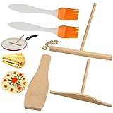 Sartén de madera para crepes 5 piezas panqueques Espátula de madera Accesorios para sartenes Fabricante de panqueques Sartén de madera para utensilios de cocina Para hacer panqueques para el desayuno