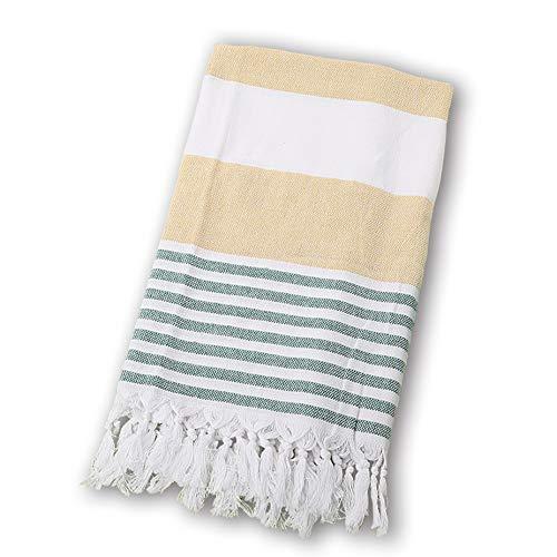 BEUFIRST Toalla de Piscina Grande 100% algodón. (100x180 cms). Toallas Playa algodón Fino 100% Natural. Muy absorbentes, Ligeras y de máxima suavidad. (Verde)