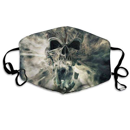 Mundschutz Smoke and Fog Demon Skull,Mouth Cover,Windproof Facial Decorations,Dust-Proof Mouth Protector,Half Face Cover,Adjustable Earloop