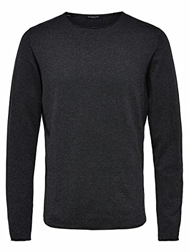 SELECTED HOMME Male Pullover Crew Neck- XXLAntracit