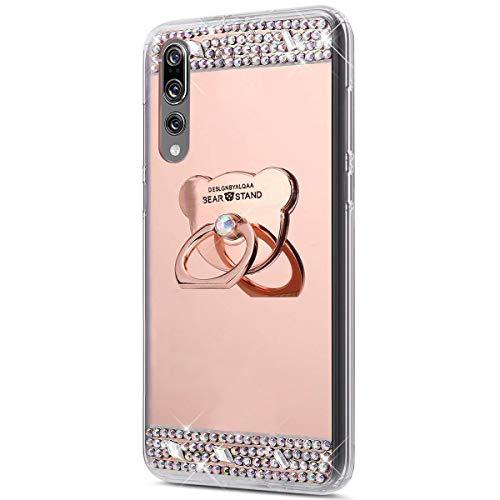Jinghuash beschermhoes voor Huawei P20 Plus/P20 Pro, spiegelbeschermhoes Rozengoud.