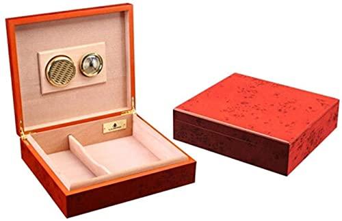 WANGXIAOYUE Boîte à cigares Boîte à cigares, humidificateur de cigares Rouge Rose, Petite Armoire Cigare, chaleureuse et dodue Boîte à Tabac