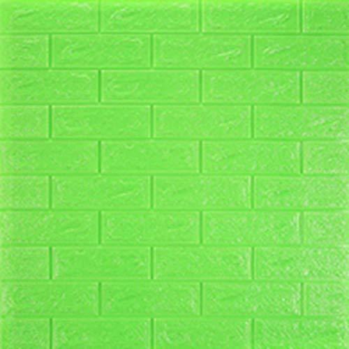GHJL 3D backstein Schlafzimmer dekor wasserdicht Selbstklebende tapete für Wohnzimmer küche tv Hintergrund decor70 * 77