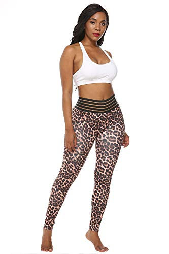 ZBBYMX Luipaard Print Leggings Vrouwen Fitness Hardlopen Yoga Pant Hoge taille Tummy Controle Push Up Fitness Leggings Sport Gym Wear