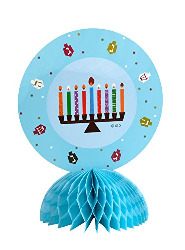 Hanukkah Table Decoration Menorah Toppers - with Menorah & Dreidel Design - Chanukah Decoration