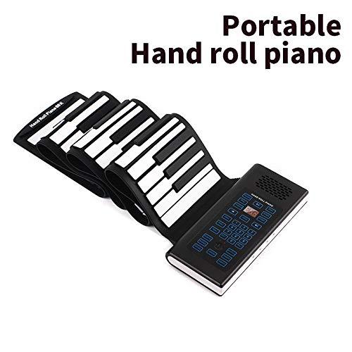 Teclado electrónico, piano portátil portátil inteligente, teclado de principiante MIDI plegable de 88 teclas
