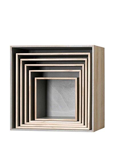 Bloomingville Holzbox im 6er Set grau