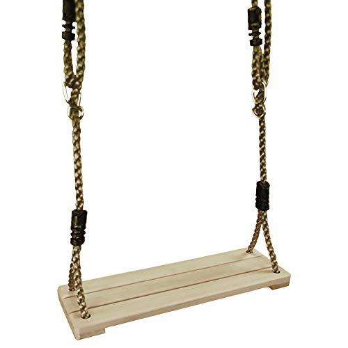 Best Sporting Kinderschaukel Brettschaukel aus wetterfestem Holz 38x14 cm mit verstellbarem Seil