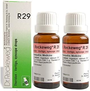 Dr.Reckeweg Germany R29 Vertigo, Syncope Drops Pack Of 2