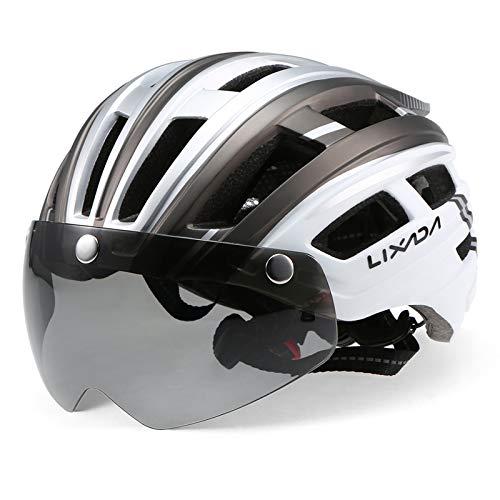 Lixada Adult Bike Helmet,Mountain Bike Helmet with Detachable...