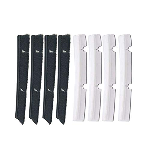 TOOGOO 4xSilicone Blades+4xBrushes Replacement for Neato Botvac 70e 75 80 85 All D-ries Connected Vacuum Cleaner Parts Accessories