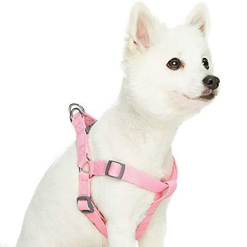Umi. Essential Classic - Arnés para Perros M, Contorno del Pecho 51-66 cm, arneses Ajustables para Perros (Rosa)