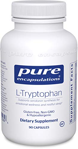 Pure Encapsulations L-Tryptophan | Amino Acid Supplement for Relaxation, Serotonin Support, PMS, Sleep, and Emotional Wellness* | 90 Capsules