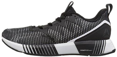 Reebok Women's Fusion FLEXWEAVE Sneaker, Black/ash Grey/Primal red, 6.5 M US