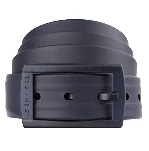 Tie-Ups® Cinturón de Silicona - Cinturón Elástico | Cinturón sin Metal - Hipoalergénico | Cinturón sin Níquel | Indetectable bajo los Detectores de Metales |Darkblue recycle