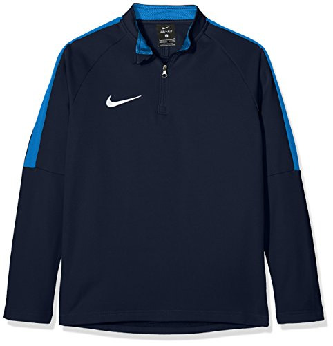 Nike Jungen Y NK Dry ACDMY18 DRIL TOP LS Long Sleeved T-Shirt, Obsidian/Royal Blue/(White), S