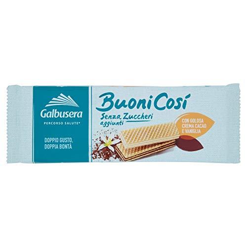 Galbusera Wafercosi  senza Zucchero Vaniglia Cacao, 175g