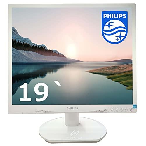 PHILIPS 19S4LS/19インチ /薄型小型LED液晶モニタ /1280x1024(VGA,DVI)SXGAHD/VESA準拠/非光沢/省エネルギーの LED ディスプレイ(整備済み品)