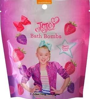 JoJo Siwa Bath Bombs 2-pk (2 x 3.5 oz) Berry Sweet Scent