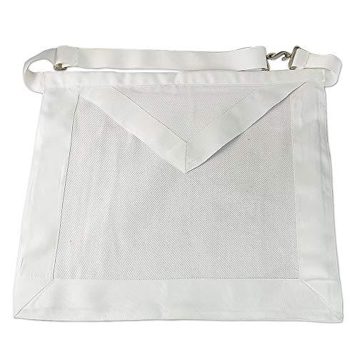 Masonic Apprentice White Apron Textile Gift for Freemason