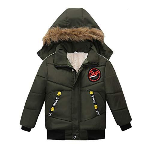 YUYOUG Garçon Manteau Blouson Hiver Automne Chaud Capuche Zip Vêtement Enfant Doudoune à Capuche Fourrure Jacket 1-3 Ans