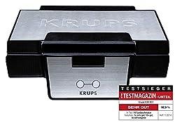 Krups Waffeleisen FDK251 Doppelwaffeleisen, 2 belgische Waffeln gleickzeitig; antihaftbeschichtete Platten (spülmaschinengeeignet) für rechteckige Waffeln; sicher dank isoliertem Griff; 850W