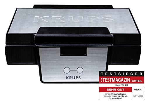 Krups FDK 251 Wafelijzer, Voor Belgische Wafels, 850 Watt, Zwart, Roestvrij Staal