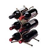GUOCAO 6 botellas de vino Bastidores de vino titular de la botella de vino con patas de almacenamiento en rack de hierro, de estar Cocina Inicio hierro Estante de almacenamiento se suba a la tabla Est
