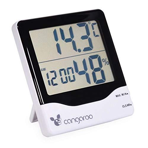 Cangaroo Thermometer 3 in 1, hygrometer, thermometer, digitale klok met wekker