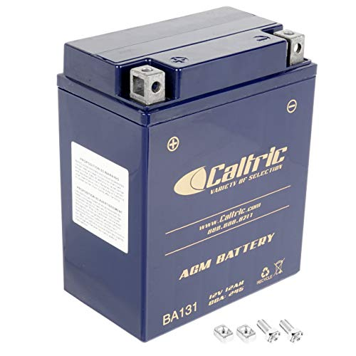 Caltric compatible with Agm Battery Yamaha Warrior 350 Yfm350X 1987 1988 1989 1990-2004