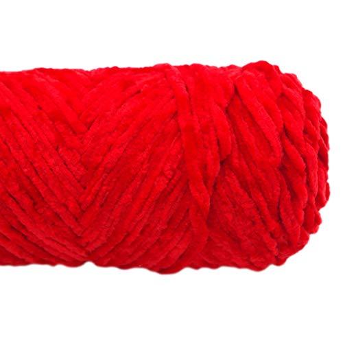 PHILSP Hilo de felpilla de terciopelo para tejer a mano hilo de ganchillo DIY Craft Scarf Sweater 3