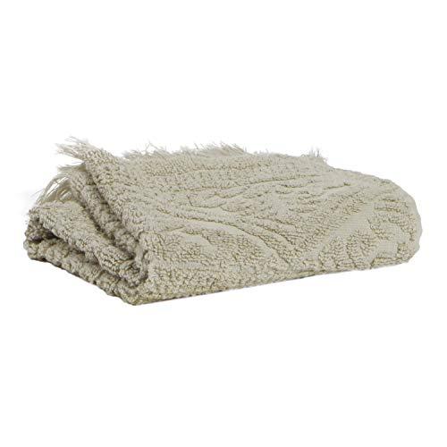 Vivaraise - Serviette de Toilette Zoé - 50x100 cm - Tissu éponge Absorbant 100% Coton - Doux Moelleux - Motif Jacquard Couleur Lin