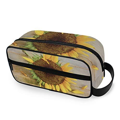 Sunflower Summer Plant Trousse de Maquillage Portable pour Femme et Fille Multifonction Sac de Toilette de Voyage Sac de Toilette Sac de Toilette Sac de Rangement en Toile