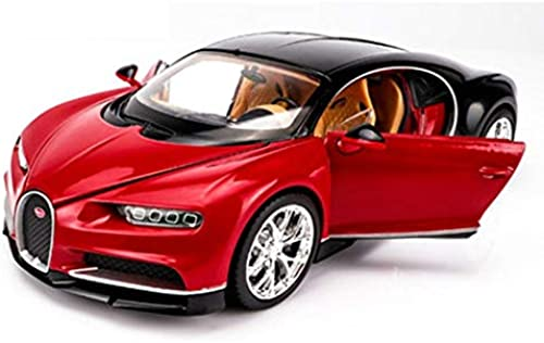 descuentos y mas XJRHB 1 24 24 24 Modelo de Coche Deportivo Bugatti Modelo de Coche Simulación aleación Modelo de Coche Adornos, Opcional (Color   rojo)  Tienda 2018