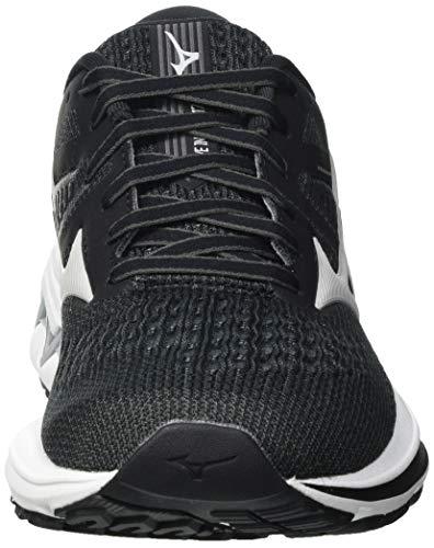Mizuno Wave Inspire 17, Zapatillas para Correr Mujer, Darkshadow Lunarrock Negro