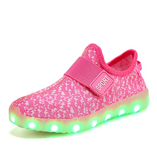 XZSPR Kids Boys Girls Breathable LED Light Up Flashing Sneakers for Children Shoes(Toddler/Little Kid/Big Kid)