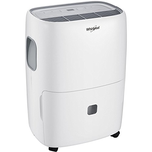 Whirlpool, White High-Efficiency 70-Pint Dehumidifier with Built-in Pump