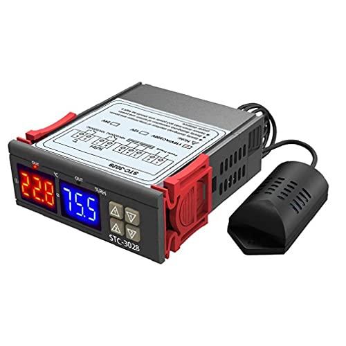 nJiaMe STC-3028 Inteligentes de Temperatura Pantalla Digital y regulador de Humedad Agricultura Seguro y fiable