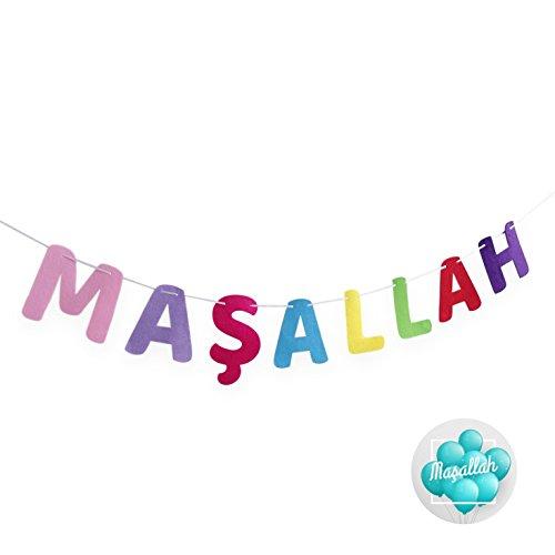 MASALLAH Girlande mit Aufkleber – Sünnet Beschneidung Dekoration Dekorasyon Kapi Süsü – Baby Bebek Deko auch für Hochzeit Dügün Mevlüt