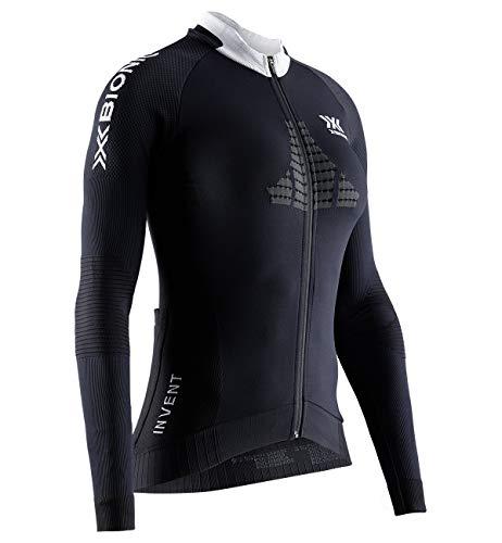 X-Bionic Invent 4.0 Cycling Zip Short Sleeves Women Tee Shirt Maillot de Cyclisme vélo VTT zippé Femme Manches Courtes, Black/Charcoal, FR : S (Taille Fabricant : S)