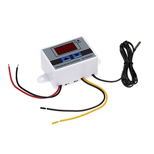 Cucudy XH-W3001 Controlador de Temperatura de Microcomputador Digital Inteligente com LED-Display Mini Interruptor de Termostato Interruptor de Controle de Temperatura de Aquecimento/Resfriamento com