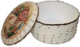 Oro Import Tortilla Warmer Keeper Eco Friendly Tortillero de Mimbre 8 Inches x 5 Inches