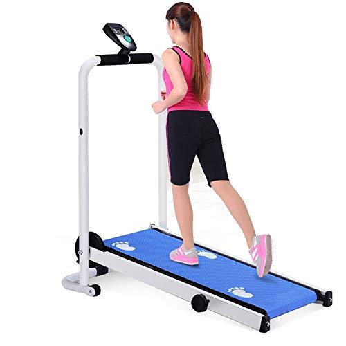 LOVEHOUGE Cinta de correr plegable,Máquina de correr portátil para el hogar con pantalla LCD,Cinta de correr mecánica,Caminar equipo de fitness
