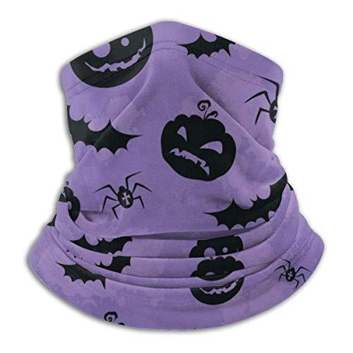 LREFON Pañuelo de Cuello con Textura de arañas de murciélagos Negros, pasamontañas para Hombres, Mujeres, protección contra el Polvo del Viento y el Sol