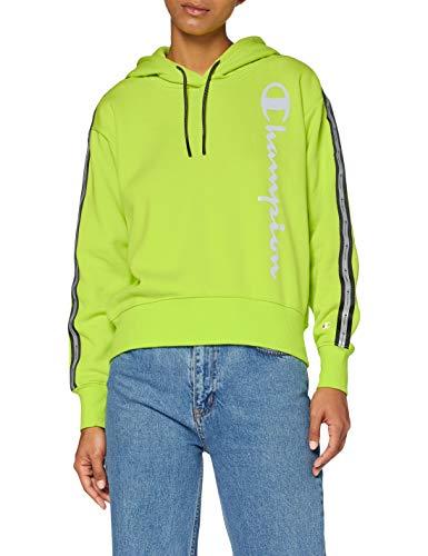 Champion Women's Seasonal Metallic Logo Hooded Sweatshirt Sudadera con Capucha, Verde (YS061), Medium para Mujer
